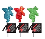 Glitter Swirl Dragon Lollipops: 12 Pack
